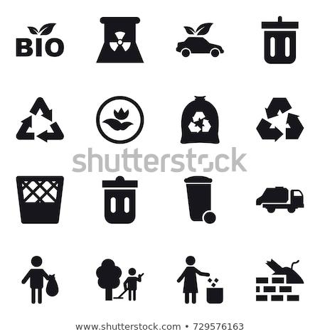 Verontreiniging onzin prullenbak objecten geïsoleerd illustratie Stockfoto © bluering