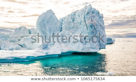 Global warming -Greenland Iceberg landscape of Ilulissat icefjord with giant iceberg Stock photo © Maridav