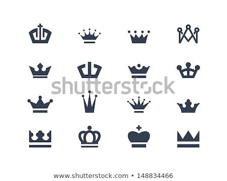 корона логотип икона вектора Vintage Сток-фото © netkov1