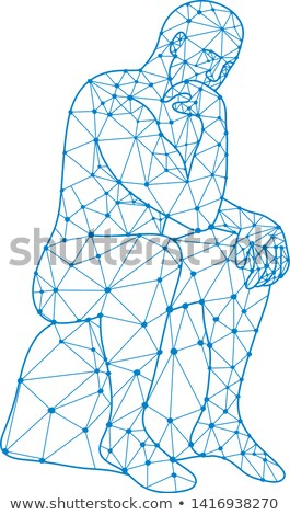 Future Man Thinking Nodes Stock photo © patrimonio
