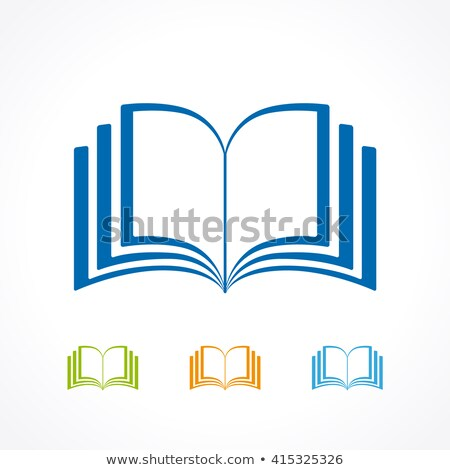 Open Book in Yellow Cover with Bookmark Vector Stock photo © robuart