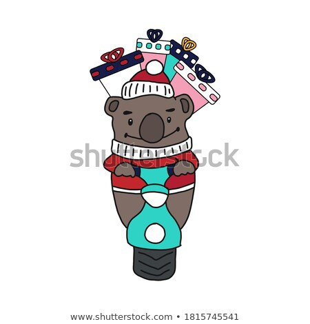 Cute ours brun design style illustration Photo stock © Decorwithme
