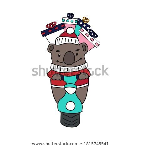 zabawy · zoo · ponosi · ilustracja · cute · baby - zdjęcia stock © decorwithme
