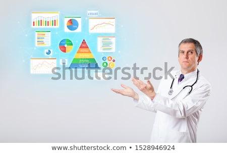 Diyetisyen besin orta yaşlı adam sağlık tıp Stok fotoğraf © ra2studio