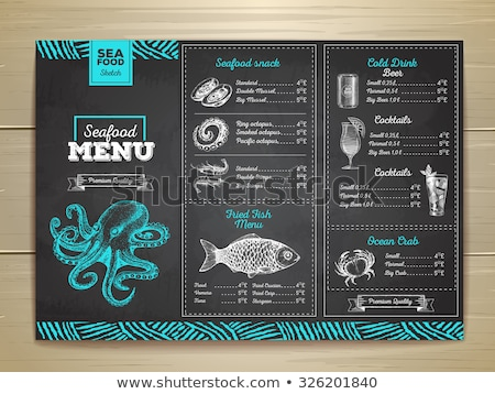 étel hozzávalók fa deszka recept menü sablon Stock fotó © robuart