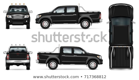 Сток-фото: грузовика · черный · иконки · силуэта · белый · автомобиль