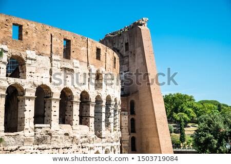 Coliseu ensolarado Roma Itália céu Foto stock © AndreyPopov