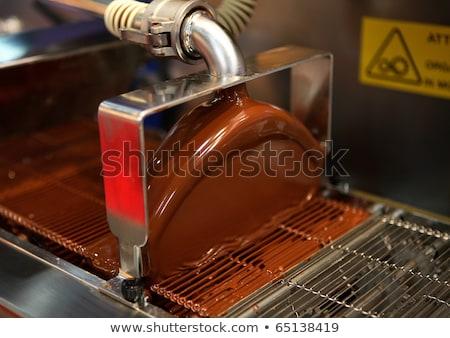 チョコレート マシン 生産 キャンディ ショップ 人 ストックフォト © dolgachov