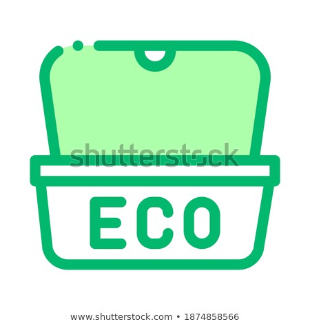 Eco materiaal pakket street food vector icon Stockfoto © pikepicture