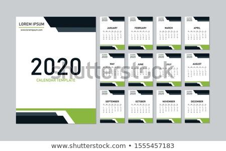 elegant professional 2020 business calender design template Stock photo © SArts