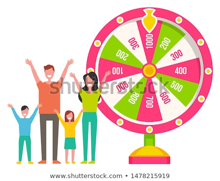 Wiel roulette machine familie vector winnend Stockfoto © robuart