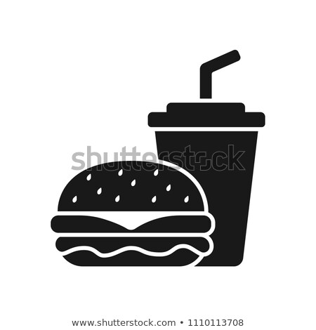 Soft Drink in Cup Hamburger Vector Illustration Stock photo © robuart