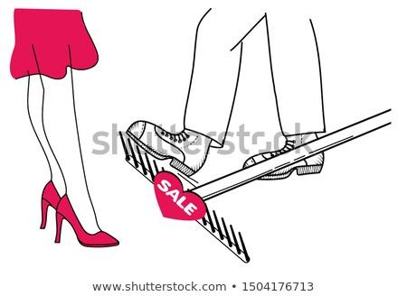 шаг грабли бизнеса обман продажи женщину Сток-фото © Olena