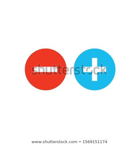 Plus and minus in circle. Positive and negative buttons. Stock Vector illustration isolated on white Stock photo © kyryloff