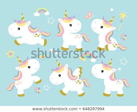 Rainbow Pony Sitting Stock photo © Dazdraperma
