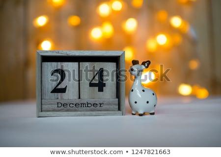 Cubes calendar 24th December Stock photo © Oakozhan