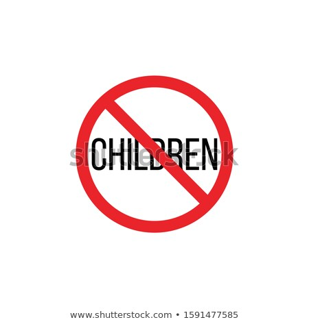 Children are prohibited Stop or ban sign . Kid is not allowed image. Babies are banned. Stock Vector Stock photo © kyryloff
