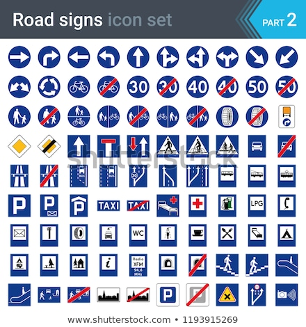 Sinais de trânsito isolado branco obrigatório informação sinais Foto stock © ukasz_hampel