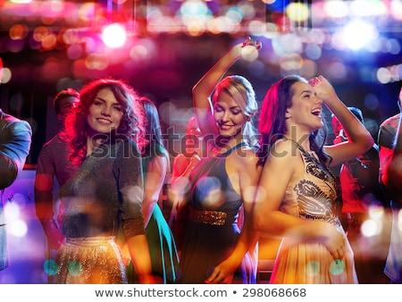 Bachelorette Party, Girls Dancing in Nightclub Stock photo © robuart