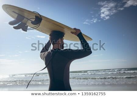вид сзади молодые кавказский мужчины Surfer Сток-фото © wavebreak_media