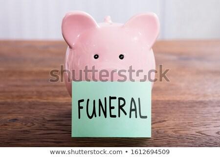 葬儀 計画 書かれた 貯金 接着剤 ストックフォト © AndreyPopov