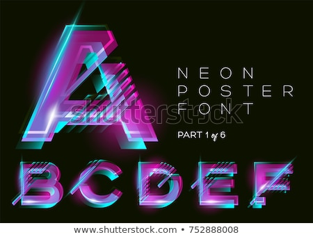 Abstract neon lettere notte luminoso Foto d'archivio © wywenka