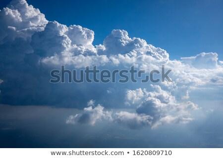 Hatalmas fehér kék ég nap világítás felhők Stock fotó © artjazz