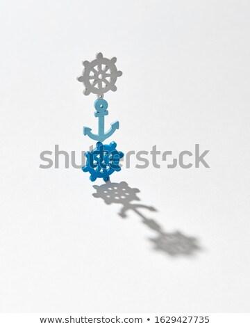 Vertical marinos patrón oscuridad ruedas creativa Foto stock © artjazz