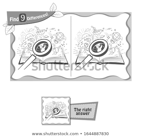 book find 9 differences black Stock photo © Olena