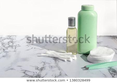 Orgánico algodón mármol cosméticos maquillaje Foto stock © Anneleven