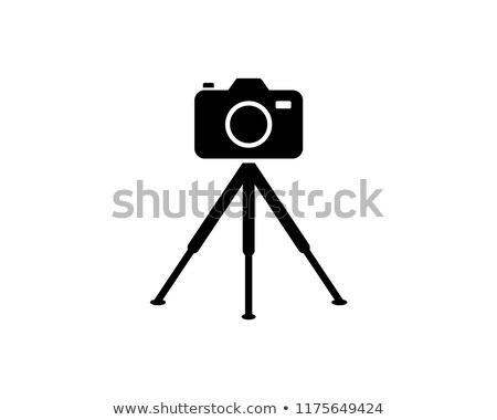 video camera with tripod icon vector outline illustration Stock photo © pikepicture