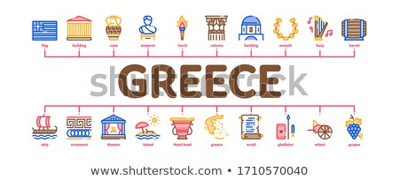 Greece Country History Minimal Infographic Banner Vector Stock photo © pikepicture