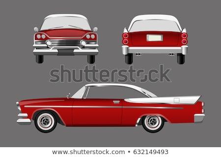 parça · kırmızı · Retro · araba · bağbozumu · oto - stok fotoğraf © diego_cervo