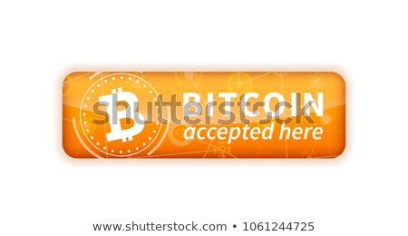 Bitcoin accepted here, bright glossy badge on white Stock photo © evgeny89
