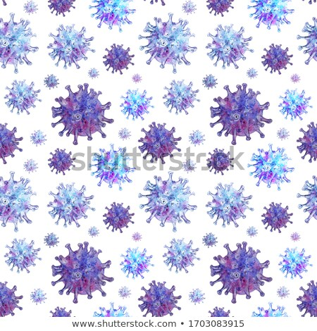 Bright colorful biology cells, bacterias and virus, seamless pattern on white Stock photo © evgeny89