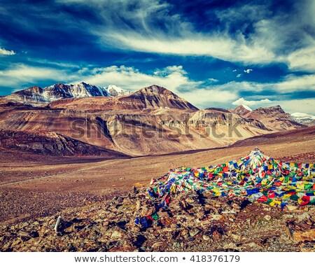 Oración banderas himalaya Foto stock © dmitry_rukhlenko