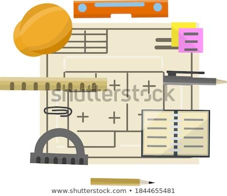 Munkahely építész mérnöki szerszámok projekt üzlet Stock fotó © Freedomz
