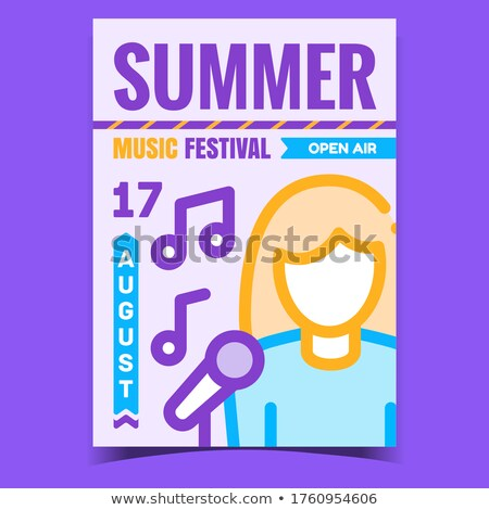 Estate festival di musica creativo promo poster vettore Foto d'archivio © pikepicture