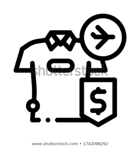 purchase cash t-shirt duty free icon vector outline illustration Stock photo © pikepicture