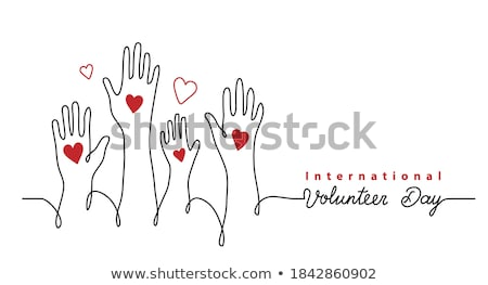 international world donation day concept poster design Stock photo © SArts