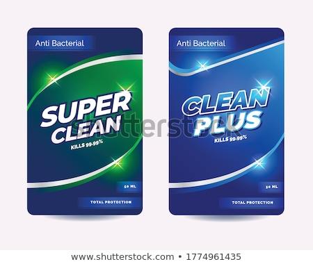 çamaşırhane deterjan dezenfektan etiketler tasarım şablonu su Stok fotoğraf © SArts