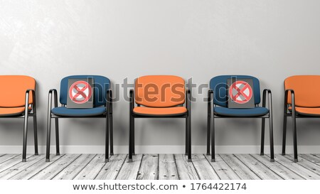 Alternate Color Chairs in a Row, Social Distancing Concept Stock photo © make