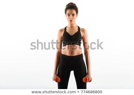 Obraz kobieta fitness odzież sportowa stałego patrząc Zdjęcia stock © deandrobot