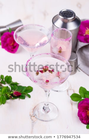 Assortment of pink cocktails with rose syrup. Stock photo © furmanphoto