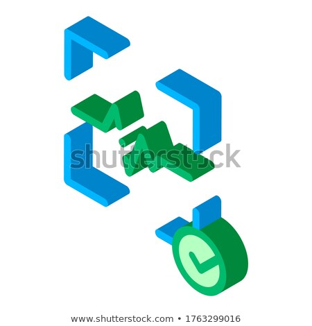 Confirmation of Action Voice Control isometric icon vector illustration Stock photo © pikepicture
