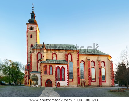 Kerk onderstelling Slowakije maagd hemel gebouw Stockfoto © borisb17