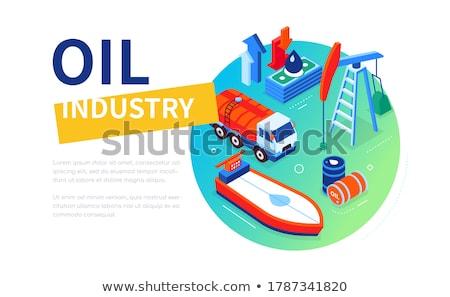 Przemysł naftowy nowoczesne kolorowy izometryczny internetowych banner Zdjęcia stock © Decorwithme