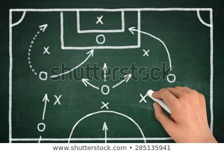Photo stock: Homme · dessin · football · jeu · stratégie · blanche