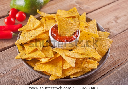 Hot salsa and nachos Stock photo © mephi55to