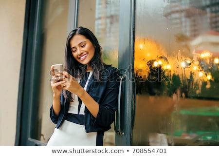 Pretty Indian Woman on Phone Stock photo © nruboc
